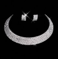 Wholesale romantic spring resale online - 2019 hot sell vintage Charming Wedding Bridal Sets Accessories Jewelry Necklace Earring Set Party Jewelry for Wedding Party Bride