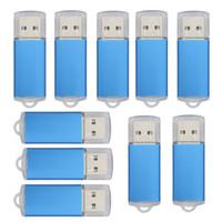 msata ücretsiz gönderim toptan satış-Toplu 10 ADET USB 2.0 Flash Sürücüler 64 MB Memory Stick Yüksek Hızlı Başparmak Kalem Sürücü Depolama Bilgisayar Laptop için Promosyon Hediyeler Ücretsiz Kargo