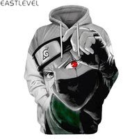 Wholesale Japanese Style Men Hoodies - Dropshipping New Styles Hooded Sweatshirt Men Women Japanese Cartoon Naruto Printed Mens Hip Hop Hoodies and Sweatshirts