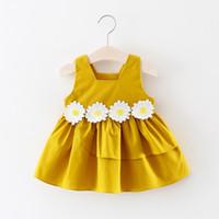 falda de la liga de los niños al por mayor-versión coreana de los vestidos de niña de la ropa V chaleco de la falda de los niños niñas falda de encaje sin mangas de los niños con encanto falda 001