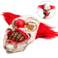 pvc props großhandel-Halloween Latex Clown Maske Scary Rotten Face Clown Halloween Kostüm Party Requisiten Masken Cosplay