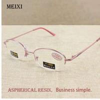 6e664b618 Metade da Liga de Lentes de Vidro das Mulheres Óculos de Leitura Óculos  Femal +1.0 1.5 2.0 2.5 3.0 3.5 4.0