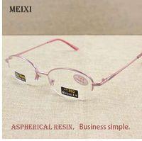 067701dbc9 Women s Half Alloy Frame Glass Lenses Reading Glasses Femal Eyewear +1.0  1.5 2.0 2.5 3.0 3.5 4.0