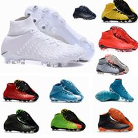 Wholesale Mens Boot Brown - 2017 Top Quality Hypervenom Phantom III DF FG 3D Outdoor Soccer Cleats Trainers Football Boost FG Mens Football Boots Soccer Shoes 39-46