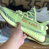 promo code fa7f0 88b11 Adidas Yeezy boost supreme off Con caja 350 V2 Boost Kanye West 2019  zapatos para correr de calidad superior con mantequilla de sésamo crema de  cebra blanco ...