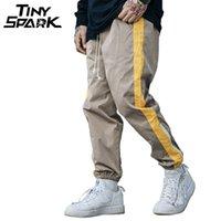 ingrosso pantalone di sudore baggy-Pantaloni Hip Hip Pantaloni larghi Harajuku Jogger Pantaloni sportivi a strisce laterali Streetwear Patchwork Pantaloni casual Pantaloni della tuta 2018 Autunno