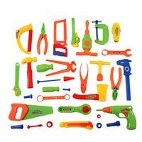spielzeug elektrowerkzeuge großhandel-32-tlg. Reparaturwerkzeugset Elektrowerkzeuge Kinderspielzeug Handwerkersimulationsspielzeug