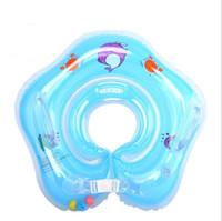 tubo de natación bebés al por mayor-Nuevo Bebé Inflable Piscina Flotador de Cuello Anillo Inflable Anillo Seguridad Niño Juguetes 0-2 Años Babies Swim Ring