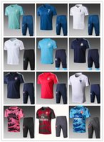Wholesale first suits - First-class 2017 18 Bayern Munich Juventus ARSERN 2017 18 Olympique de Marseille Short sleeved training suit 3 4 pants