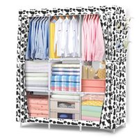 Wholesale wholesale storage cabinets - New Storage Holders & Racks Wardrobe DIY Non-woven fold Portable Storage Cabinet