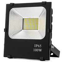 luzes led outdoor led venda por atacado-Luzes de inundação do diodo emissor de luz 100W, (halogênio 500W Equ, IP65 impermeável, luz do dia branca 6500k 85V-265V, luz do trabalho exterior para a garagem, jardim, gramado e jarda