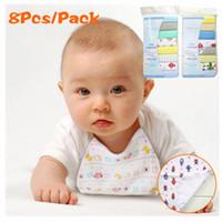 Wholesale Fast Bib - 8PCS LOT Cotton Newborn Baby Infant Towels Print Saliva Nursing Feeding Bibs Dry Fast Towel For Kids Washcloth Handkerchief