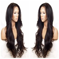 Wholesale Human Hair Wigs Malaysia - Malaysia Body Wave Gluless Front Lace   Full Lace Human Hair Wigs For Black Women Pre Plucked Wavy Remy Hair Wigs 150% Density 2#