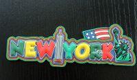 york gummi großhandel-New York City Vereinigte Staaten Funny Letters Gummi Souvenir Kühlschrankmagnet Tourist Travel Gift