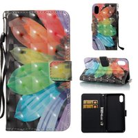 Wholesale Tower Case Stand - 3D Dreamcatcher Flower Don't Touch My Phone tower deer Stand ID Card Wallet Leather Case for iphone X Samsung S9 PLUS NOTE 8