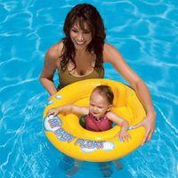 высококачественные резиновые лодки оптовых-Водные виды спорта Высокое качество Надувные Детские Float сиденье лодка пробки кольцо резиновый круг для купания малышей бассейн Портативные аксессуары