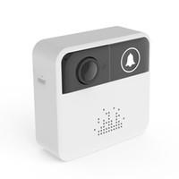 Wholesale door bell camera intercom online - WiFi Video Doorbell Camera Door Bell Ring Alarm Chime Door Phone Intercom Audio Free APP Control iOS Android