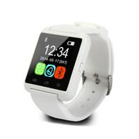оригинальный u8 smartwatch оптовых-Оригинальные U8 Bluetooth Смарт Часы Android Электронные Smartwatch Для Apple IOS Часы Смартфон Android Смарт Часы ПК GT08 DZ09 A1 M26 T8