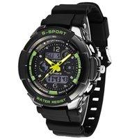 часы наручные оптовых-Новые светодиодные цифровые датчики с датой дня для мужчин Кварцевые спортивные электронные армейские наручные часы