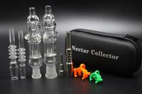 conjunto coletor nector venda por atacado-Conjunto de colecionadores de néctar com dom unidirecional de unhas de quartzo 10mm 14mm nector coletor de bongos tubulações de água de equipamentos de petróleo, mini-bongs