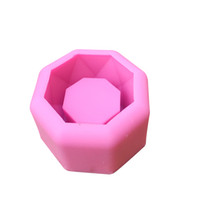 ingrosso fiore concreto-Geometrico poligonale concreto vaso di fiori pentola ufficio decorazione penna gel di silice stampo di ghiaccio scatola di cemento sale argilla scolpire muffa