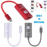 Wholesale mobile phone hdtv for sale - 4K USB C Type C to female HDMI cable HDTV hdmi Adapter for Mobile phone Tablets with type c function CAB299