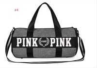 Wholesale fashion totes wholesale - Men Women Handbags Pink Letter Large Capacity Travel Duffle Striped Waterproof Beach Bag Shoulder Bag Exercise Gym Bags