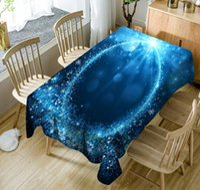 3d masa örtüsü toptan satış-3D Baskılı Masa Örtüsü Polyester Su Geçirmez Masa Örtüsü Dikdörtgen Yemek Masa Örtüsü Ev Dekor Düğün Ziyafet