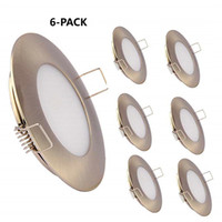 Wholesale light mounting clips online - Topoch Ceiling Lights for Kitchen Pack Low Profile Spring Clip Mount Full Aluminium Downlight V W for Camper Marine Sliver White Nickel