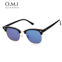 Wholesale master designers - 2018 Hot Square RAYS Sunglasses Men Women BANS Half Frame Brand Designer Inspired Hot Retro Classic Club Master Sun Glasses Shades