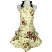 Wholesale princess kitchens - Lovely Cotton Canvas Pinafore Beautiful Princess Apron For Lady Home Kitchen Cleaning Tool Accessories 26dj C R