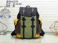 Wholesale backpack felt - New Hot Sale brand Women Men Backpack Fashion Printed high quality Pu School Bag Travel Bag Designer Leather Handbags Tote