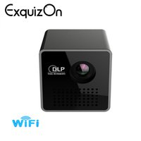 Wholesale micro proyector - Exquizon P1 P1+WIFI Wireless Pocket LED Pico Smart Mini Projecto DLP Micro Miracast DLNA Handheld Video Proyector Beamer
