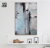 Moderne Graue Wandfarbe Großhandel MUYA Große Abstrakte Malerei Vintage  Leinwand Kunst Ölgemälde Auf Leinwand Moderne