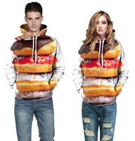 Wholesale Hamburger Man - Hip Hop Hoodie New Fashion Hooded Men Women Hoodies 3d Printed Hamburger the Big Mac Men Sweatshirt Cap Hoodies lovely Tracksuits