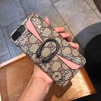 ingrosso disegni di tasca posteriori-Cassa del telefono di marca di modo per IPhone X XS MAX XR 8 7 6 più casi del sacchetto dello smartphone Rivet tasca posteriore Cover Design di alta qualità per la signora ragazza