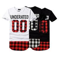 ingrosso uomini di camicia bandana-2018 UNDERATED Bandana Uomo Tee Shirts Estive degli uomini di Skateboard t-shirt Hip Hop tshirt Abbigliamento Streetwear H1
