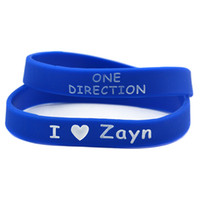 Wholesale one direction red for sale - OneBandaHouse PC I Love One Direction Silicone Bracelet with Name HARRY LIAM ZAYN NIALL LOUIS