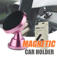 Wholesale car swivel mount - Premium Metal Alloy Magnetic car mount holder 360 Rotation Swivel Head Cell Phone Stand Holders for Car Mounting Bracket for iPhone 8 x