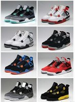 superman cotton fabric 2018 - 2018 High Quality 4s Mens Basketball Shoes 4s White Cement Black Red 4 Superman Fashion Sports Shoes