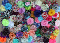 Wholesale hair accessory crafts - Free Shipping Costing Price 2.5 100pcs Shabby For Kids Headbands Chiffon Flowers For Girls Hair Accessories Craft Flower Headwear