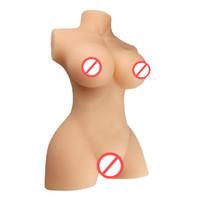 anal de silicone 3d venda por atacado-3D Sólidos Boneca Sexual Completa de Silicone Com Esqueleto Japonesa Real Amor Boneca Masculina Masturbador Realista Vagina Anal Brinquedos Sexuais de Mama Para Homens