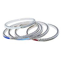cz gümüş bilezikler toptan satış-2017 7 renk 100% 925 ayar gümüş emaye CZ kalp şeklinde Radyant Fit Avrupa pan Bilezik Kadınlar Takı Için Charm Bilezik