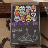 Wholesale decoration fruit fork - 12Pcs Set Traditional Chinese Opera Faces Fruit Fork Cute Cartoon Baby Fork Toothpick Gadgets Dessert Decoration Forks QW7676
