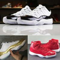 Wholesale athletic rubber bands - 2018 11 Low basketball shoes men's Outdoor sports shoes Women's fashion sneakers Gym Red Chicago Midnight Navy designer shoes 11s Athletic
