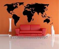 küresel sanat toptan satış-SıCAK 1 ADET 200x90 cm CCR1103 Büyük Küresel Dünya Haritası Atlas Vinil Duvar Sanatı Decal Sticker
