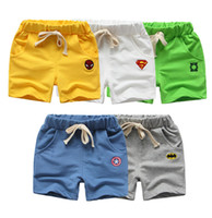 ingrosso modello del ragazzo coreano-Estate Abbigliamento per bambini Nuovi pantaloncini di cotone del fumetto Coreano moda estate pantaloni per bambini modelli di marea Cartoon Boys Pants
