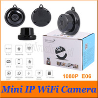 Wholesale mobile baby monitor - E06 V380 1080P Wireless Mini Camera 2.4G Wifi Camera Support Mobile View Motion Detector Alarm Cam Home Security Cam Baby Monitor Cheapest