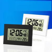 parede de contagem regressiva digital venda por atacado-Relógio de parede Calendário Semana Data Mês com termômetro Fase da Lua doméstico Mesa Despertador digital Relógio contagem regressiva Soneca temperatura Medidor H157