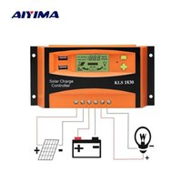 Wholesale 12v 24v battery charge controller for sale - Group buy Cells AIYIMA PWM V V A Solar Controller LCD Function Dual USB VDC Output Solar cells Panels Battery Charge Regulator